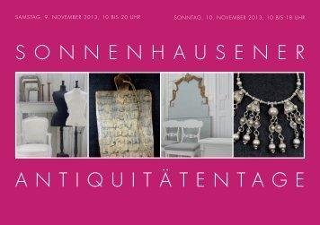 sonnenhausener antiquitätentage - auf Gut Sonnenhausen