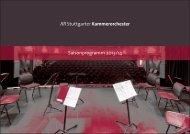 Saisonprogramm 2013/14 - Stuttgarter Kammerorchester
