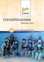 Sommerferienprogramm in PDF Datei - Stadt Coburg