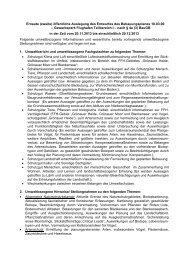 Liste umweltbezogener Informationen und ... - Stadtentwicklung