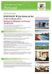 ROBINSON Club Quinta da Ria - Golfclub Fürth