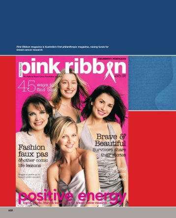 Pink Ribbon magazine is Australia's first philanthropic magazine ...