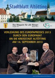 Stadtblatt Altötting Das Magazin für alle Bürger - Stadt Altötting
