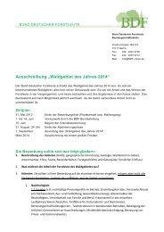 Ausschreibung WdJ 2014 - BDF
