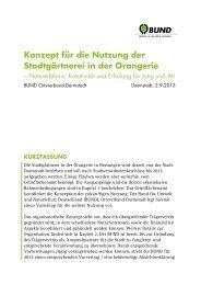 Konzept für die Nutzung der Stadtgärtnerei in der Orangerie - BUND ...