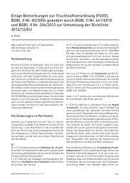 Einige Bemerkungen zur Fruchtsaftverordnung (FSVO), BGBl. II Nr ...