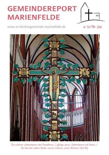 Gemeindereport April 2013 - Evangelische Kirchengemeinde ...