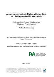 Anpassungsstrategie Baden-Württemberg an die Folgen des ...