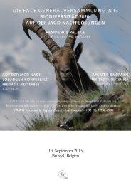 13. September 2013 Brüssel, Belgien - FACE