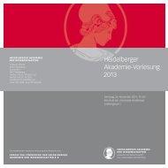 Heidelberger Akademie-Vorlesung 2013