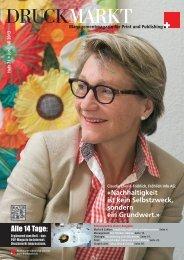 Druckmarkt, Juli 2013 - Fröhlich Info AG