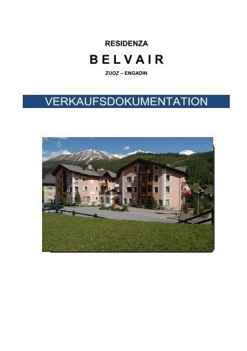 Verkaufsdokumentation Belvair, App. 3, 30.07.13 - Residenza Belvair
