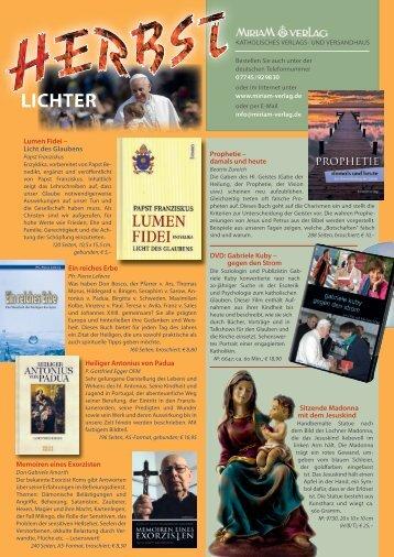 Lichter - Miriam-Verlag