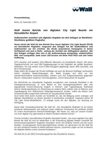 Pressemitteilung DCLB Flughafen Düsseldorf - Wall AG