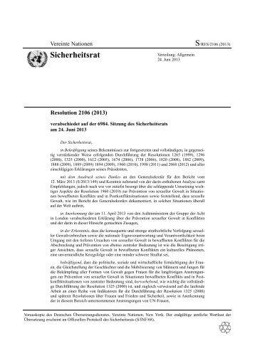 S/RES/2106 - Deutsche Gesellschaft für die Vereinten Nationen eV
