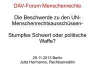 Stumpfes Schwert oder politische Waffe? - Deutscher Anwaltverein