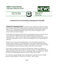 See Schedule - USDA Forest Service - US Department of Agriculture