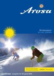 Imagebroschüre Winter 2013/14 - Arosa