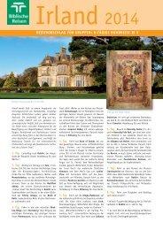 Irland 2014 - Biblische Reisen