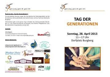 TAG DER GENERATIONEN - Burgberg