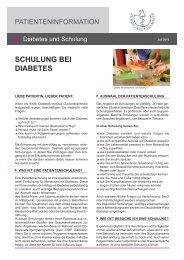 Schulung bei Diabetes [PDF] - Bundesärztekammer