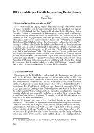 1813 – und die geschichtliche Sendung Deutschlands - Das ...