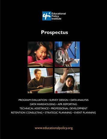 New EPI Research Brochure - Educational Policy Institute