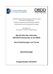 Bericht 2013 des nationalen REITOX-Knotenpunkts an die EBDD ...