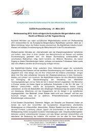 EGÖD-Pressemitteilung - 21. März 2013 Weltwassertag ... - EPSU