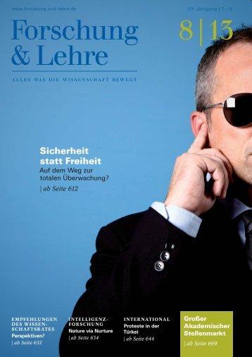 Forschung & Lehre 8 | 2013