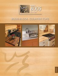 BOOS BLOCK COUNTER TOPS