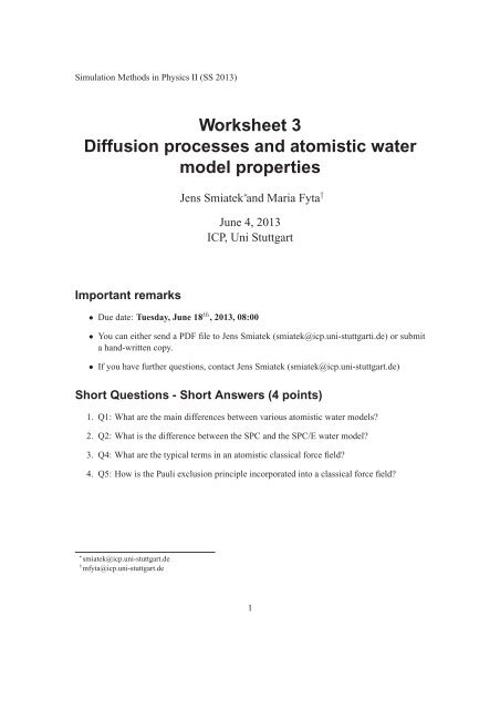 Worksheet 3 (the work sheet as a single PDF file) - Institute for ...