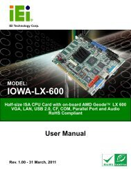 IOWA-LX-600 Half-size CPU Card - iEi