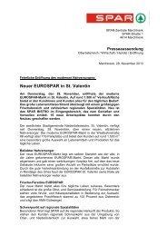 Neuer EUROSPAR in St. Valentin