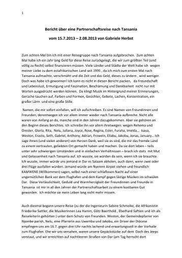 Reisebericht 2013 (pdf) - Hoffnungsgemeinde Magdeburg