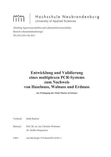 Entwicklung und Validierung eines multiplexen PCR-Systems zum ...