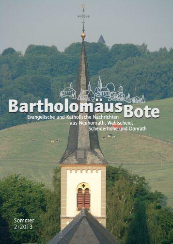BartholomäusBote Nr. 2/2013 - Evangelischen Kirchengemeinde ...