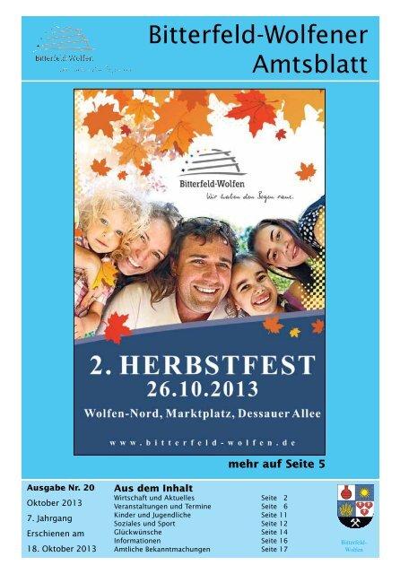 Amtsblatt 20-13 erschienen am 18.10.2013.pdf - Stadt Bitterfeld ...