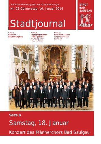 Stadtjournal Ausgabe 03/2014 - Stadt Bad Saulgau