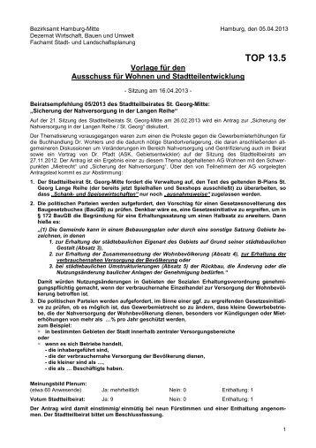 13.05 BRE_05_2013_Sicherung der Nahversorgung in der Langen ...