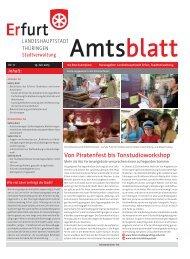 Amtsblatt Nr. 11 vom 19.07.2013 der Landeshauptstadt Erfurt