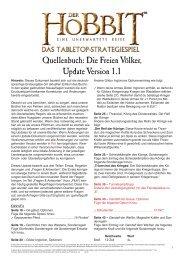 Quellenbuch: Die Freien Völker, Update Version ... - Games Workshop