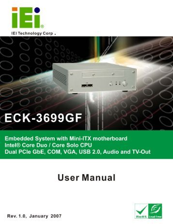 ECK-3699GF Embedded System User Manual - ICP America