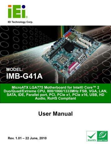 IMB-G41A Micro-ATX Motherboard - iEi
