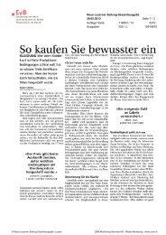 Der gesamte Artikel - Erklärung von Bern