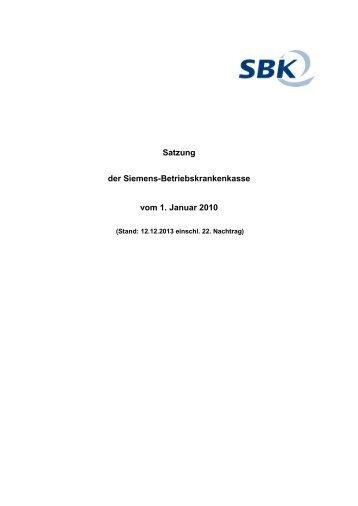 Satzung der SBK - Stand 12.12.2013