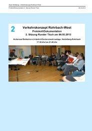 Protokoll Sitzung Runder Tisch am 06.03.2013 - Stadt Heidelberg