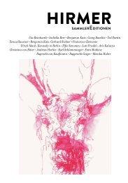 Verzeichnis SammlerEditionen 2013 (PDF-Datei, 1 ... - Hirmer Verlag