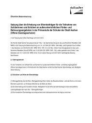 Satzung Elternbeitrag zur Offenen Ganztagsschule - Stadt Aachen