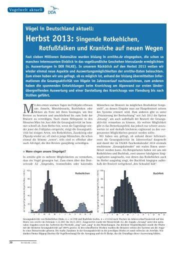 Herbst 2013 - Dachverband Deutscher Avifaunisten